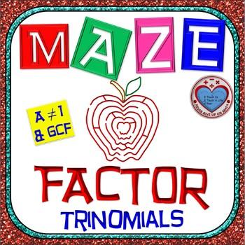 "Maze - Factoring - Factor Trinomials where ""a"" is NOT 1 (W"