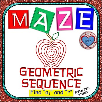 Maze - Find First Term & Common Ratio of Geometric Sequenc