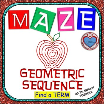 Maze - Find a term of Geometric Sequence given the Explici
