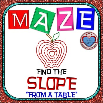 Maze - Find the SLOPE from a table of values