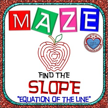 Maze - Find the SLOPE from an equation (With BONUS)