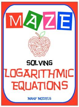 Maze - Logarithmic Functions-  Solving Log Equations - Man