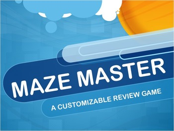 Maze Master Customizable Review Game