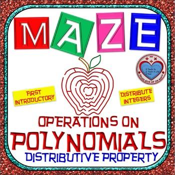 Maze - Operations on Polynomials - Distributive Property