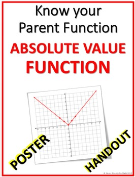 POSTER - Absolute Value Parent and Transformation