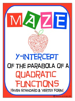 Maze - Quadratic Functions - Find the y-intercept of Stand