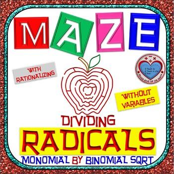 Maze - Radicals - Dividing Monomial by Binomial