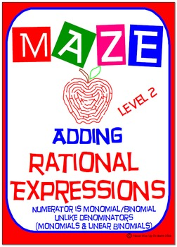 Maze - Rational Expressions - Adding Unlike Denominators (