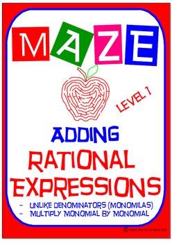 Maze - Rational Expressions - Adding Unlike Denominators (