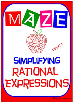 Maze - Rational Expressions - Simplifying (Level 1)