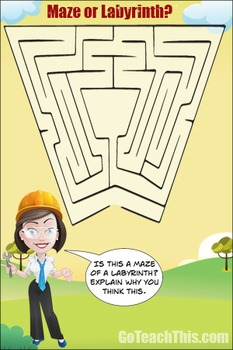 Maze or Labyrinth? 2 A Free Printable Poster Ideal for You