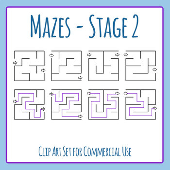 Mazes - Stage 02 Clip Art Set for Commercial Use