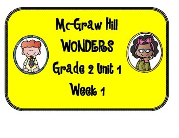 Mc Graw-Hill WONDERS Grade 2 Unit 1 Bulletin Board Set