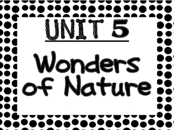 WONDERS Kindergarten Unit 5 Bulletin Board Set
