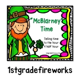 McBlarney Time ..Telling time to the hour and half hour