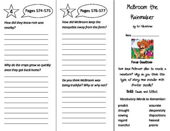McBroom the Rainmaker Trifold - Imagine It 5th Grade Unit