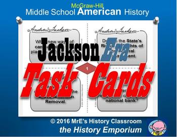 McGraw-Hill American History  Jackson Era Task Cards