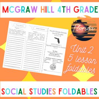 McGraw Hill Fourth Grade Florida Social Studies Unit 2 Fol