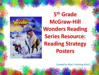 McGraw-Hill Reading Strategies Posters