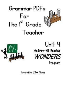 McGraw Hill Reading WONDERS GRAMMAR PDFs Unit 4 First Grade