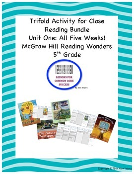 McGraw Hill Reading Wonders 5th  Grade Unit One Trifold Ac