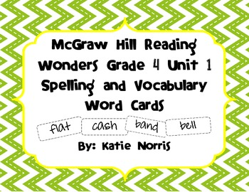 McGraw-Hill Reading Wonders Grade 4 Unit 1 Spelling and Vo