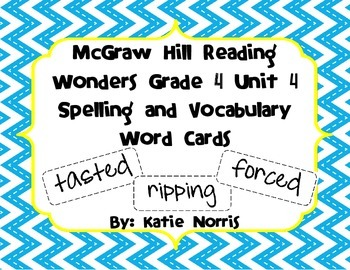 McGraw-Hill Reading Wonders Grade 4 Unit 4 Spelling and Vo