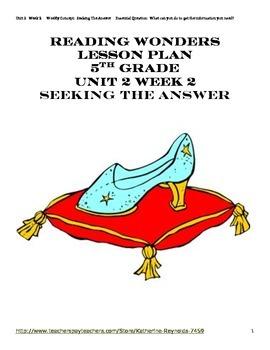 McGraw Hill Reading Wonders Grade 5 Unit 2 Week 2 Lesson P