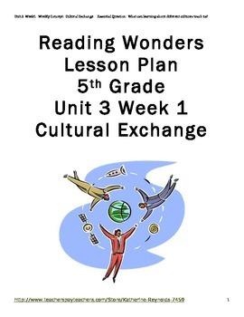 McGraw Hill Reading Wonders Grade 5 Unit 3 Week 1 Lesson P