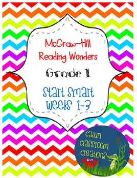 McGraw-Hill Reading Wonders Start Smart Weeks 1-3 Bundle F