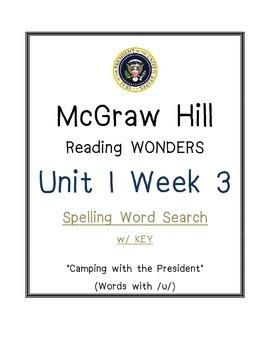 McGraw Hill Reading Wonders U 1 Wk 3 SPELLING WORD SEARCH