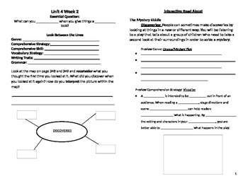 McGraw Hill Reading Wonders Unit 4 Week 2 Journal