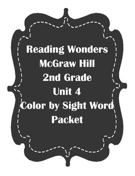McGraw Hill Reading Wonders Unit 4 second grade color by s