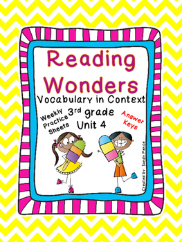 McGraw-Hill Reading Wonders Vocabulary in Context Unit 4-