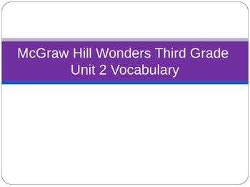 McGraw Hill Wonders Third Grade Unit 2 Vocabulary