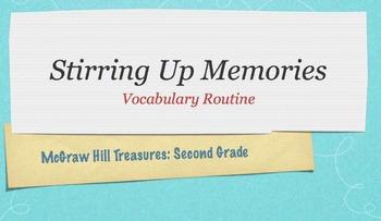 McGraw Hill Treasures Gr.2: Stirring Up Memories Vocabular