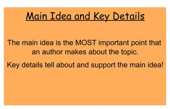 McGraw- Hill Unit 3 Week 4 Main Idea and Key Details Revie