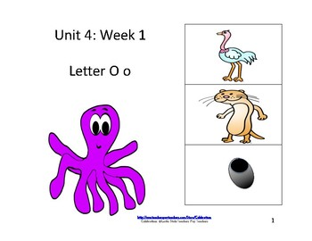 McGraw-Hill Wonders Reading Groups: Unit 4, Week 1:  Letter O