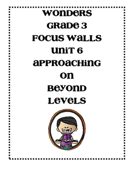 McGraw-Hill WONDERS Grade 3 Unit 6 Focus Walls Bundle