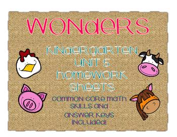 WONDERS Kindergarten Homework Packet Unit 5