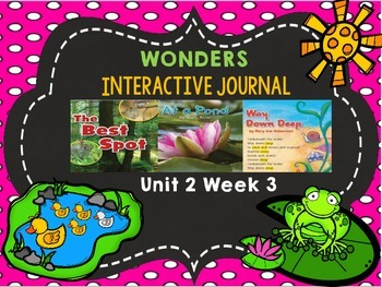 McGraw Hill Wonders 1st Grade Interactive Journal Unit 2 -Week 3