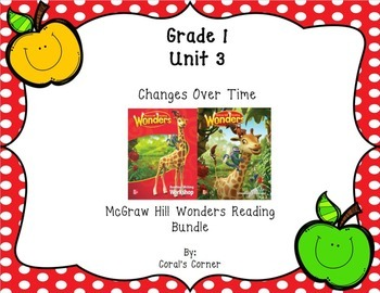 Wonders 1st Grade Interactive Journal Unit 3-BUNDLE