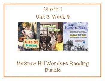 McGraw Hill Wonders 1st Grade Interactive Journal Unit 3- Week 4