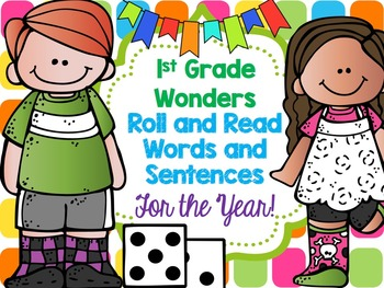 McGraw Hill Wonders 1st Grade Roll and Read for the Year!!!
