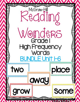 McGraw Hill Wonders 1st grade High Frequency (sight words)
