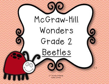 McGraw-Hill Wonders 2nd Grade Beetles {6 Vocabulary and Sp