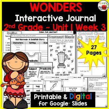 Wonders 2nd Grade Interactive Journal Unit 1-Week 3