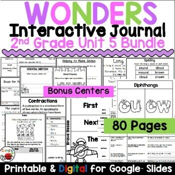 Wonders 2nd Grade Interactive Journal Unit 5 BUNDLE