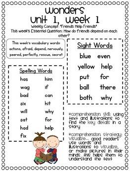 McGraw-Hill Wonders 2nd Grade Parent Communication Pack {U