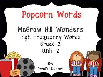 McGraw Hill Wonders 2nd Grade Popcorn Words Unit 2
